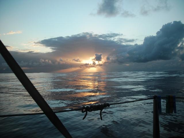 Sunrise aboard