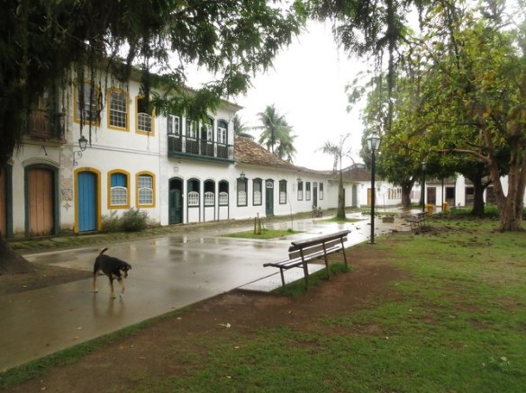 Paraty is surrounded by jungles of Southern Brazil, always wet and foggy.